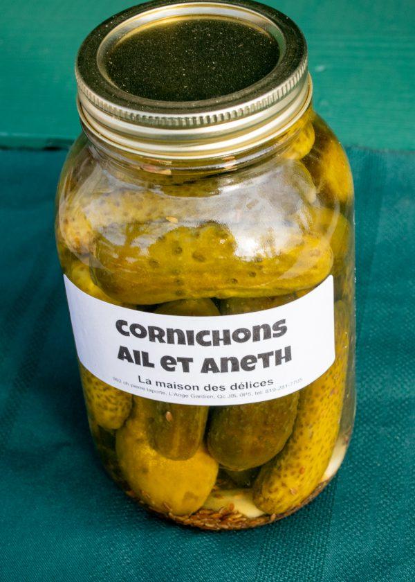 Cornichons ail et aneth 1L